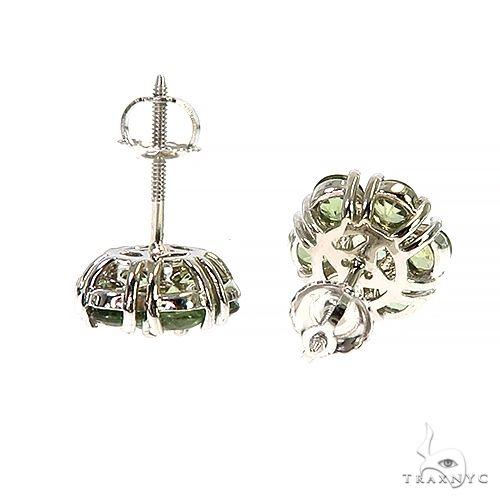 Large Green Sapphire Flower Earrings 66789 Style