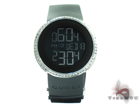 Gucci Black & White Diamond Digital Ladies Watch Gucci