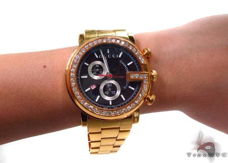 Gucci G-Chrono Yellow PVD Diamond Watch Gucci