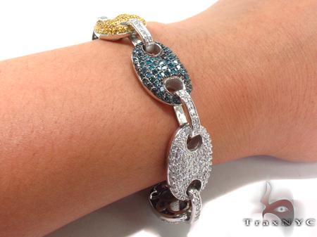 Gucci Link Multi-colored Diamond Bracelet 32608 Diamond