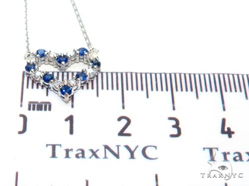 Heart Blue Sapphire Diamond Necklace 40833 Gemstone