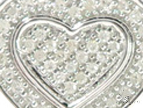 Heart Diamond Earrings 44047 Metal
