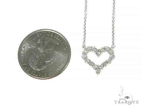 Heart Diamond Necklace 40937 Diamond