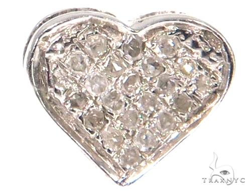 Heart Diamond Silver Earrings 45503 Metal