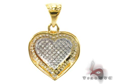 Heart Prong Diamond Silver Pendant 27655 Style
