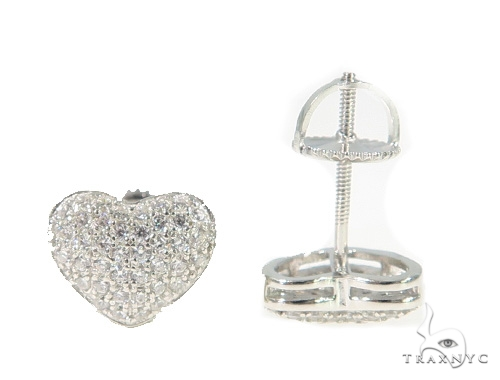 Heart Silver Earrings 49873 Metal
