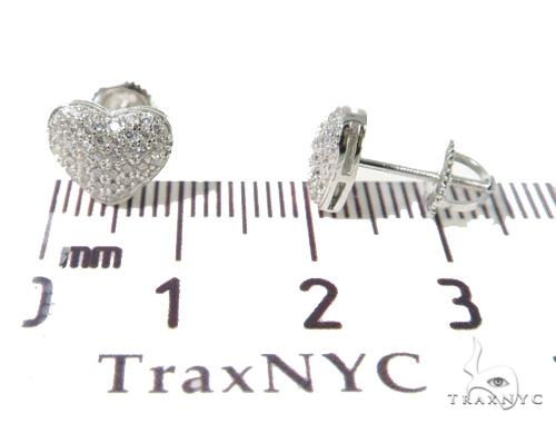Heart Silver Earrings 49873 Metal