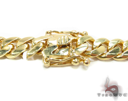 Heavy Miami Cuban Link Chain 32 Inches 9mm 203.6 Grams Gold