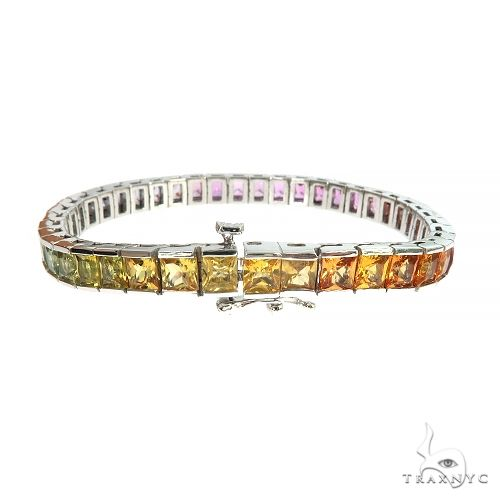 Helga Rainbow Sapphire Princess Cut Bracelet 66890 Multicolor SAPPHIRE