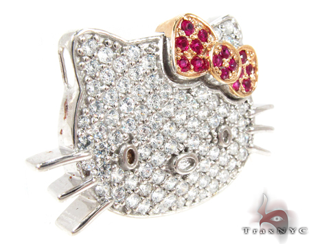 Hello Kitty Ruby Diamond Pendant Stone