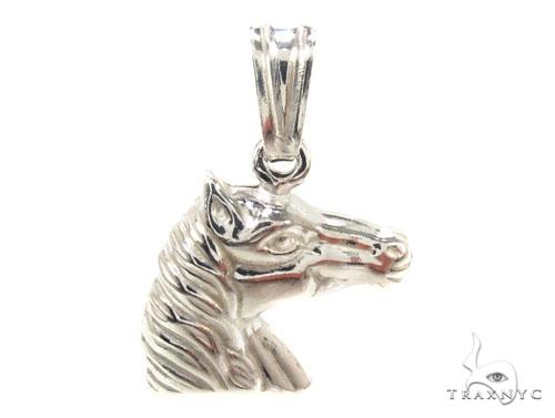 Horse Silver Pendant 36342 Metal