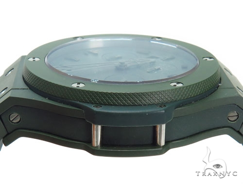 Hublot Green Big Bang Blue Ceramic on Rubber Watch 41116 Hublot