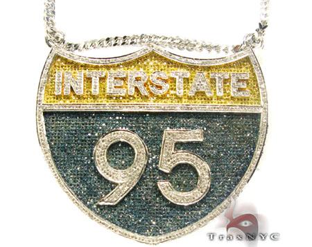 I-95 (Interstate) Pendant Metal