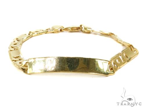 ID Gold Mens Bracelet-40124 Gold