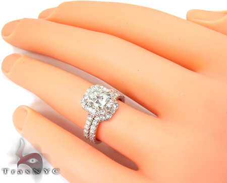 Infinity Diamond Wedding Ring Set Engagement