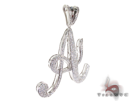Initial A Sterling Silver Pendant Metal