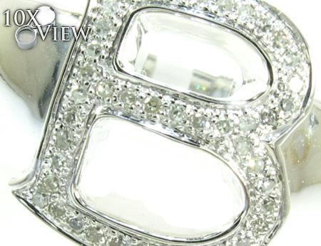 Initial B Diamond Ring Stone