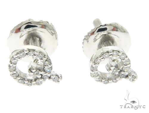 Initial 'Q' Earrings 58445 Stone