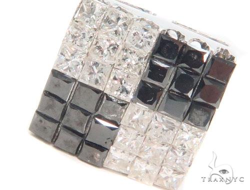 Invisible Black & White Diamond Earrings 43977 Style