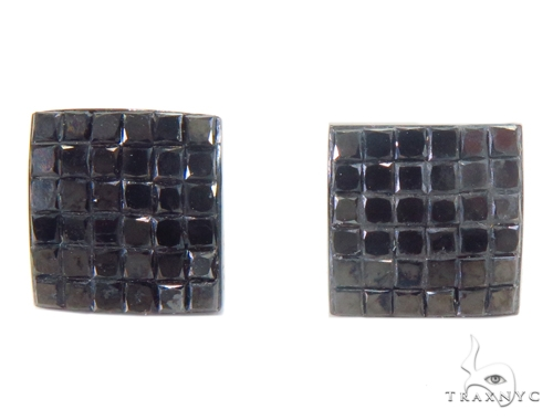Invisible Black Diamond Earrings 43914 Style