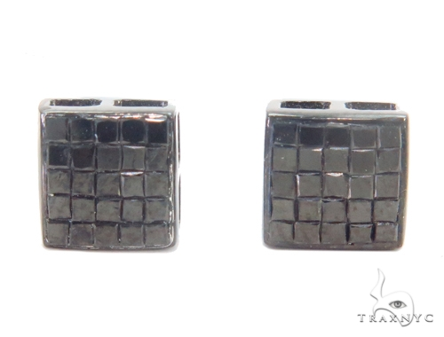 Invisible Black Diamond Earrings 43921 Style