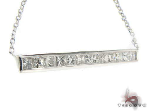 Invisible Diamond Bar Necklace 34989 Diamond