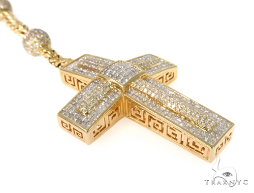 Invisible Diamond Cross Crucifix Chain 49109 Diamond