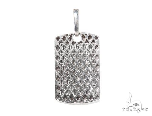 Invisible Diamond Dog Tag Pendant 44094 Metal