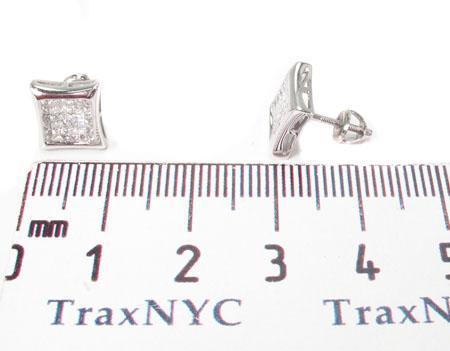 Invisible Diamond Earrings 28694 Stone