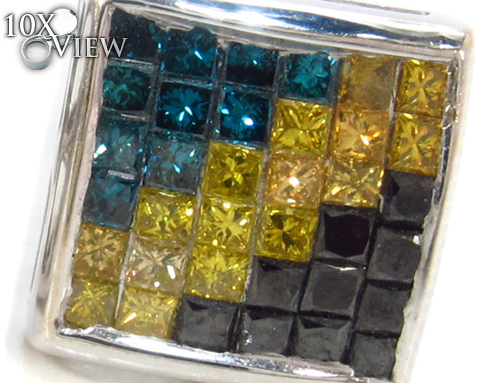 Invisible Diamond Earrings 34039 Stone