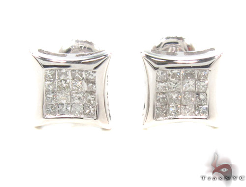 Invisible Diamond Earrings 35247 Stone