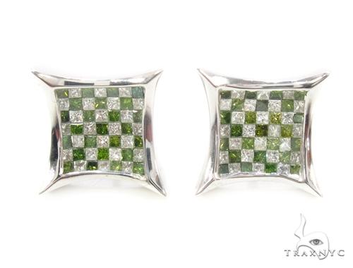 Invisible Diamond Earrings 35307 Stone