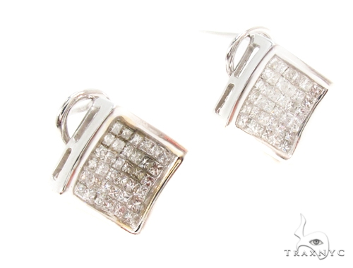 Invisible Diamond Earrings 35316 Stone