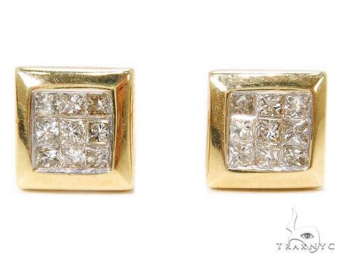 Invisible Diamond Earrings 40384 Stone