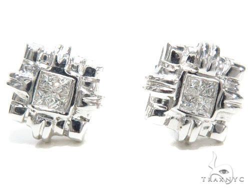 Invisible Diamond Earrings 40951 Stone