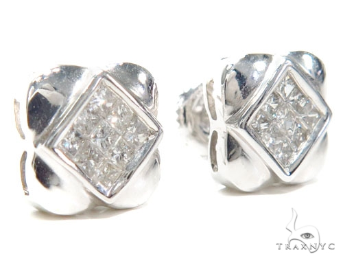 Invisible Diamond Earrings 40954 Stone