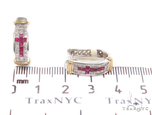 Invisible Diamond Hoop Earrings 43995 10k, 14k, 18k Gold Earrings