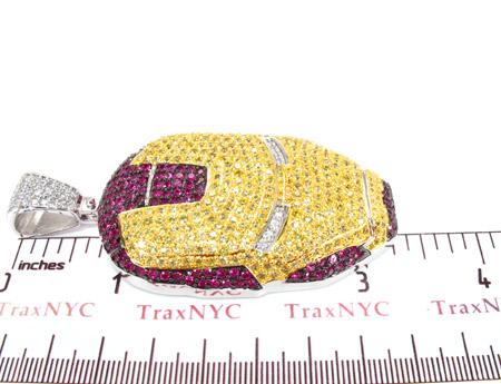 Custom Jewelry - Ironman Silver Pendant Metal