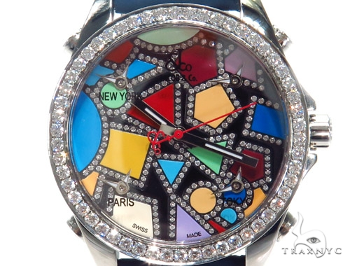JACOB & Co Five Time Zone Diamond Watch JCM113DA 41009 JACOB & Co