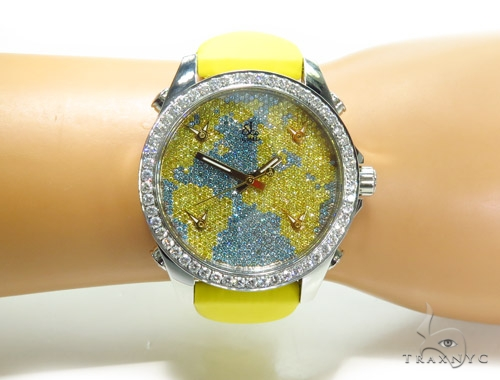 JACOB & Co Five Time Zone Diamond Watch JCM47YB 41006 JACOB & Co