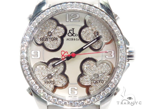 JACOB & Co Five Time Zone Diamond Watch JCMATH12 41002 JACOB & Co