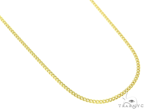 Jesus Cross Cuban/Curb Gold Chain Set 44465 Gold