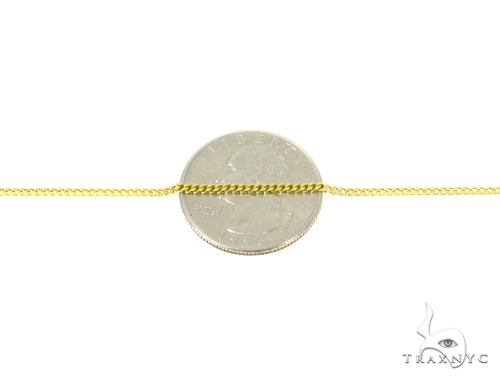Jesus Cross Cuban/Curb Gold Chain Set 44467 Gold