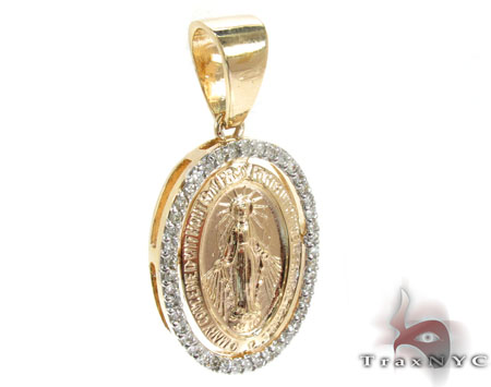 Virgin Mary Halo Diamond Pendant 28460 Metal