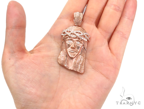 Jesus Diamond Pendant 44774 Style