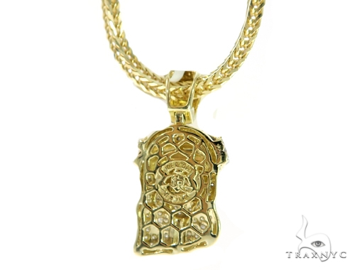 Jesus Diamond Pendant and Franco Chain Set 49587 Metal