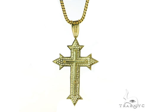 Jesus Gold Cross and Chain Set 49690 Gold
