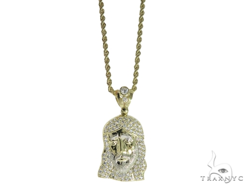 Jesus Gold Pendant and Chain Set 49581 Metal