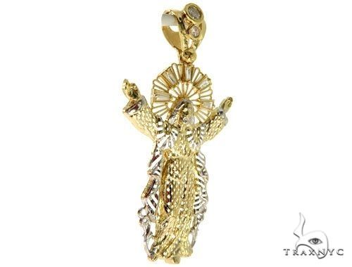 Jesus Pendant and 22 Inches Hollow Cuban Chain Set 61715 Style