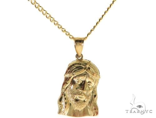 Jesus Piece 24 Inches Cuban Link Chain Set 61813 Style
